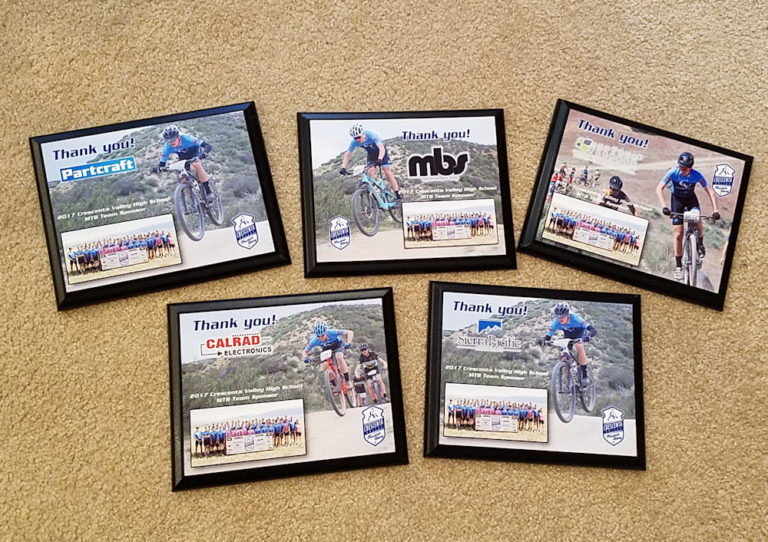 crescenta mountain bike team plaques