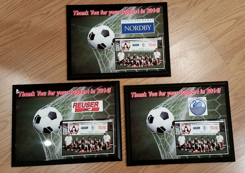 soccer plaque example