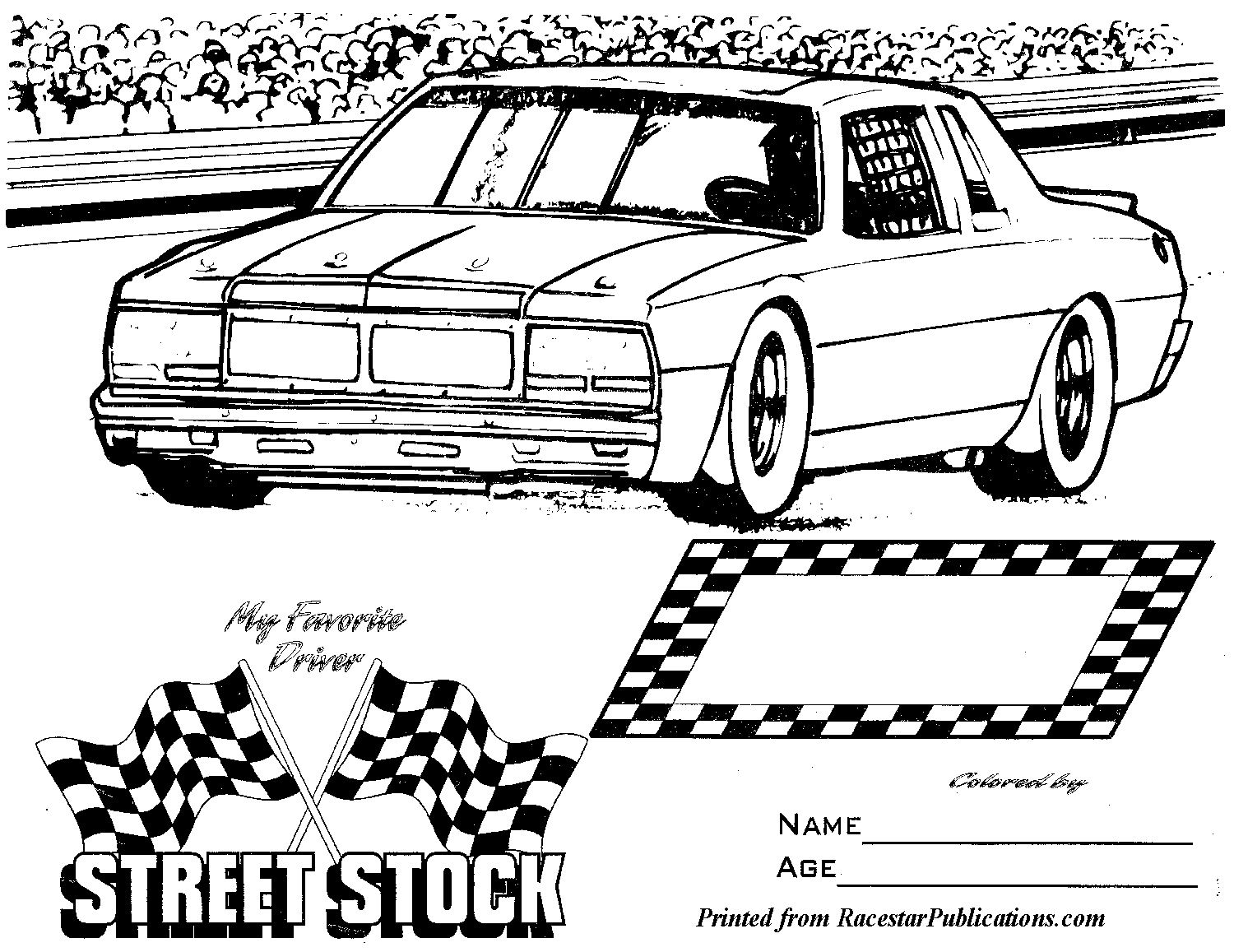 Dirt Car Coloring Pages : Dirt late model coloring pages ideas