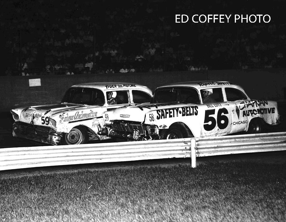 Bill Lutz 56 Tom Pistone 59 1958 Good Print Racestar