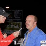 Stan Kalwasinski interviews newly crowned modified track champion Tom Bell in 2013.