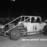 Pictured here in 1961, the late Jim Blount captured a lot of stock car victories throughout North Central Indiana during his career.  Blount and his entire racing family will be honored at South Bend Motor Speedway on Saturday.  (Wayne Bryant Photo)
