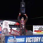 Kevin Thomas Jr. won the USAC Midget feature on Saturday night