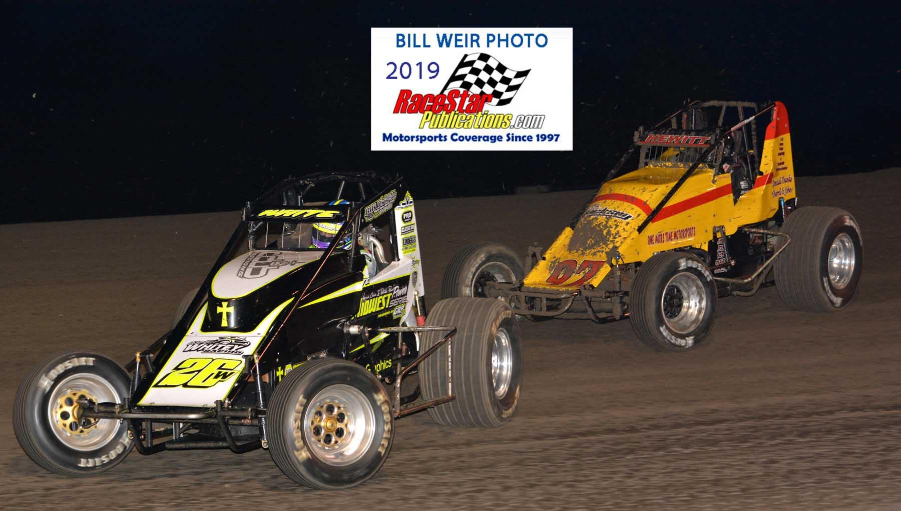 Gas City Speedway Non-wing Sprints; Bill Weir Photos