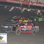 20 Tanner Sullivan 99K Jerrad Krick 44J Jeremy Madsen race for position