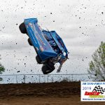 Travis Stemler takes a wild ride during qualifying