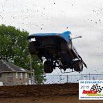 Travis Stemler takes a wild ride during qualifying