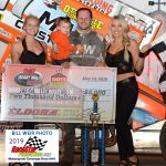 Jared Horstman won the NRA Sprint feature  at Eldora Speedways Family Fun Fest 5.18.19