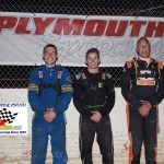 Winged Crate Sprints winner Kyle Gunkel (m) Eli Lakin (L) 2nd and Jack James (R) 3rd.