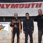 Street Stocks Winner Lee Hall, Preston Oberle 2nd, and Craig Anstead 3rd.
