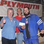 The amazing Johnny B handing feature winner Joey Spiewak an envelope with a few bucks in it...