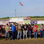 The late Randy Barrett's IMOD and family assembled on track for a moment of silence and a fitting rememberance.