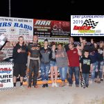 Modified feature winner Jamie Lomax and crew.
