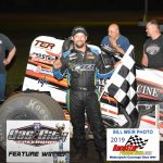 Thomas Meseraull winner of the non-wing Sprint Car Feature Friday Night 5.17.19 at Gas City I-69 Speedway.