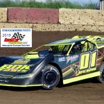 Two-time Grundy County Speedway late model champion Billy Knippenberg (01) will try his luck this year in UMP Pro Late Models competition.  Knippenberg is shown here at Shadyhill last weekend.