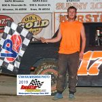 Paul Minter won the Bombers stock car division feature race.