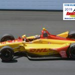 Ryan Hunter-Reay (28) won the race I 2014.