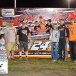 Ryan Unzicker won his first Fairbury feature in the 30 lap Late Model race.