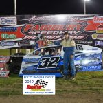 Tommy's son, Mason Duncan made short work of the competition in winning the 12 lap, Hobby- Modified race.