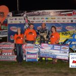 Mike Harrison earned a hard fought Summit Racing Equipment Modified win
