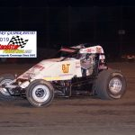 Robert Ballou finished second in the sprint car feature.