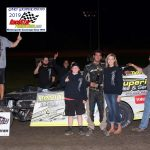 Modified feature winner Derek Losh and supporters.