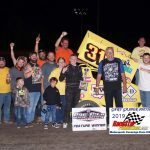 AMSA Mini Sprint feature winner Jac Nickles and army!