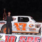 Thunder Car feature winner Preston Oberle.