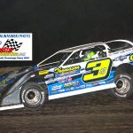 Reigning champion Brian Shirley (3) has so far won two 40-lap features and leads the current DIRTcar Summer Nationals Hell Tour standings.