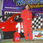 David Lauritson claimed top honors in the 15-lap 4-cylinder division feature.