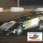 Frank Heckenast Jr. (99) came home second in the 40-lap feature.