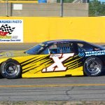 Illinois driver Jon Reynolds Jr. (X), a two-time champion at his home track – Rockford Speedway, was on hand for the 150 lapper but dropped out of the race early.