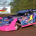 Two-time UMP late model champion Rusty Schlenk (1) grabbed fast time honors during qualifying.