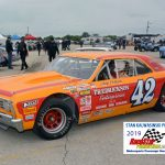 Minnesota racer Skip Pollack (42) had a neat-looking Chevelle for the vintage stock car action.