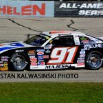 Four-time Midwest Tour champion Ty Majeski (#91), shown here in 2016, has never won at Milwaukee.  (Stan Kalwasinski photo)