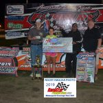 Defending Sportsman track champion, Steve Mattingly led all 25 laps for his second straight Eden-Piercy Memorial trophy.