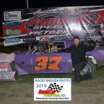 Pete Odell claimed his first win of the year in the 15 lap Street Stock race.