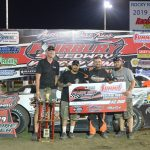 Allen Weisser, winner of the Late Model Shootout. Weisser had the option of a check for $2000 or a transfer spot in the Prairie Dirt Classic. Weisser, chose to take the money.