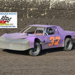 Pete Odell used the bottom groove to his advantage, winning the 15 lap, Street Stock feature.