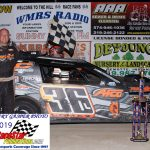 Winner of the 19th Annual Firecracker 50 Jamie Lomax in victory lane.