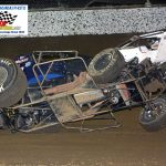 Dakota Armstrong flipped during the feature race.  He was not injured.