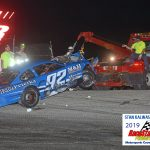 R.J. Braun's night came to an end in the 200 lapper when he was involved in an early race accident.