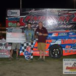 Mike McKinney pulled away from Allen Weisser in the closing laps for his fifth Fairbury Modified win.