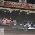 Zach Zuberbrier 4z held off Tanner Sullivan 20 for his first ever Fairbury feature race win.
