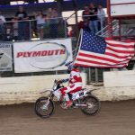 Charlie Burgess carried our colors during our National Anthem