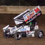 Tony Stewart managed a 6th place feature finish.