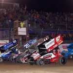 The All Star Sprints' four wide makes everyone stand and cheer!
