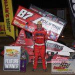 All Star Sprint feature winner Aaron Reutzel.