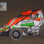 Brady Bacon (#69) led the first seven laps.