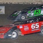 Dave Engelkens (#65) and Jeff Kerley (#13) raced most of the 30 lapper this way.